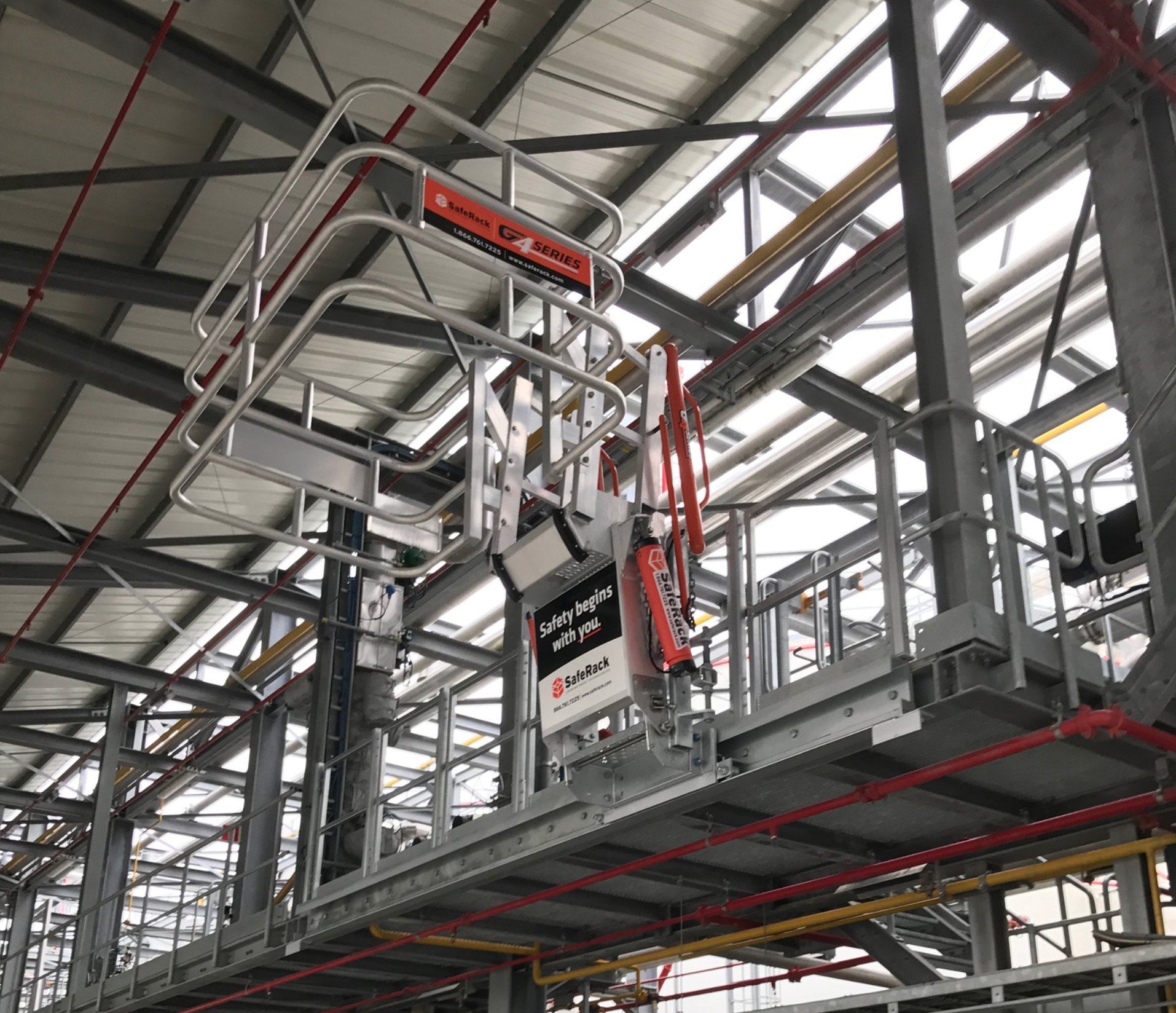 SafeRack G4 Gangway with safety rails for tank trucks