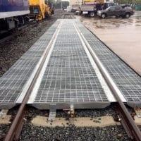 Steel Railcar Spill Track Pan