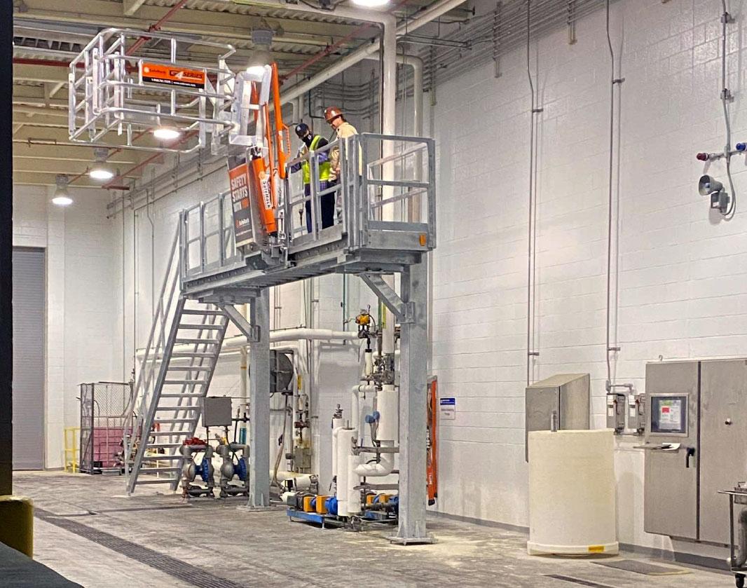 Pet food bulk loading rack installation in Kentucky