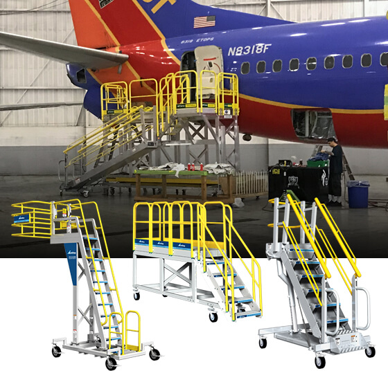 mobile work platform with plane