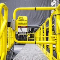 Industrial Safety Gate Installed