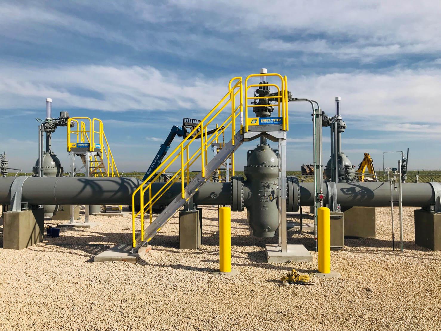 Pipeline Valve Access Metal Stair Platform