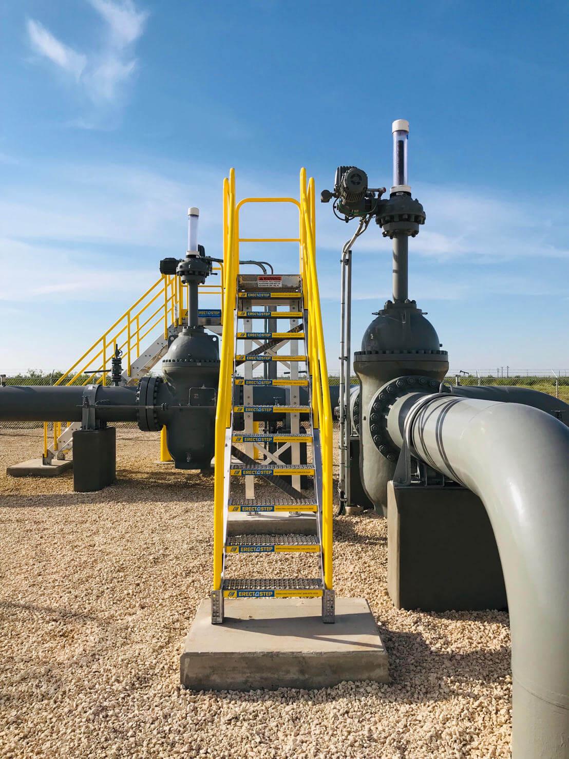 Pipeline Valve Access Metal Platform