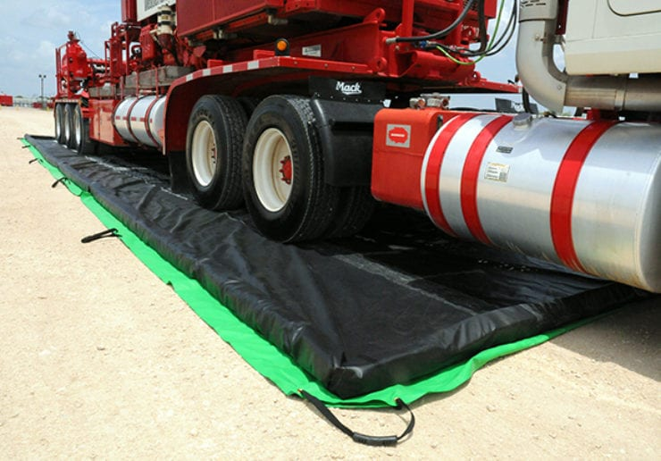 Ultratech Cement Vehicles : Quot foam wall containment berms saferack