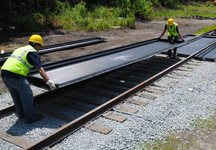 Polyethylene Amp Composite Railcar Track Pans Saferack