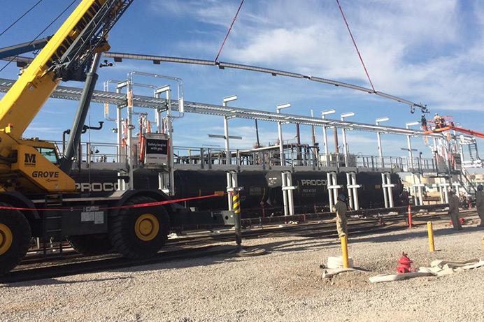 Modular Pipe Racks being installed 6