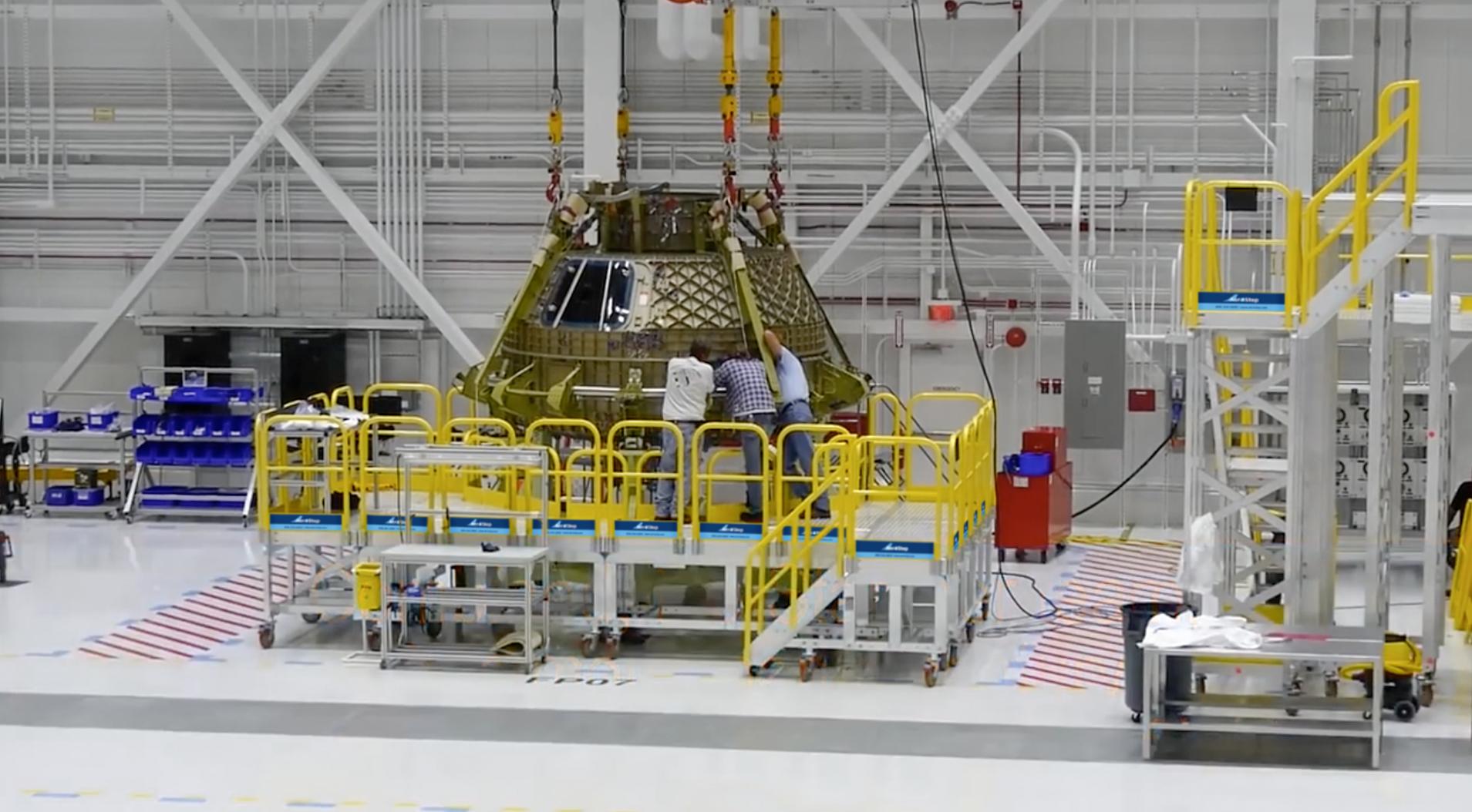 NASA Metal Work Platforms in it's environment