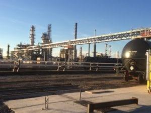 Crude oil railcar loading platform installation, Chevron refinery, Salt Lake City, UT