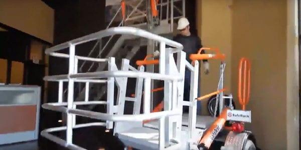 loading platform access gangway spring adjustment