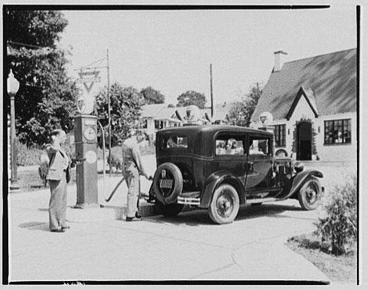 gas pump filling station