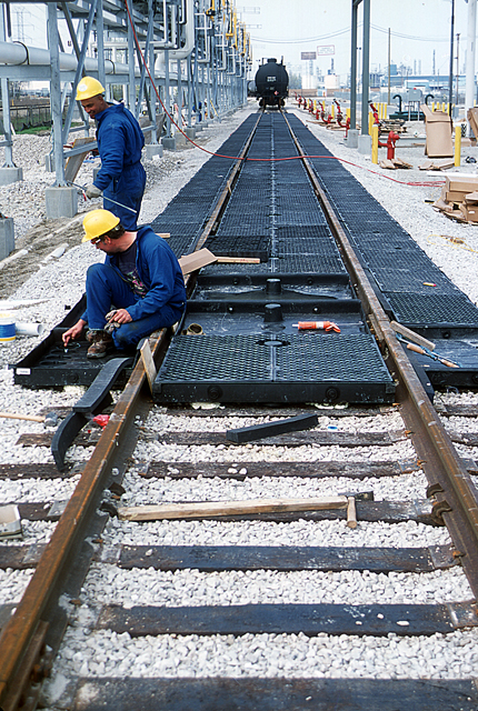 late stage installation on tracks
