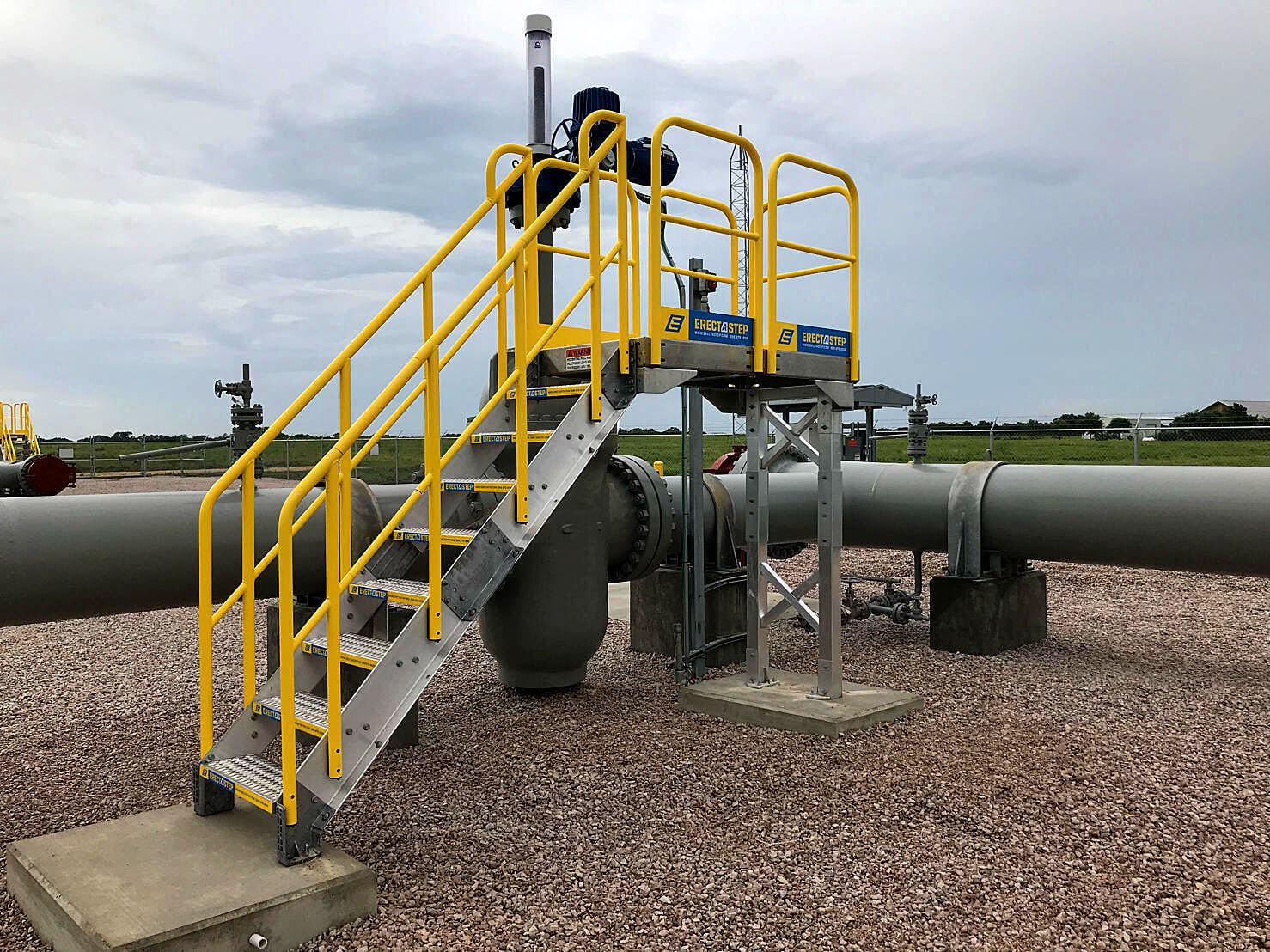 Access Platform and Precast Concrete Pads