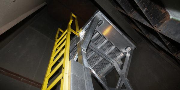 Art Gallery Metal Ladder HVAC Access
