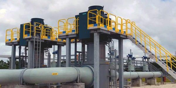 Custom Work Platform Pipeline Installation