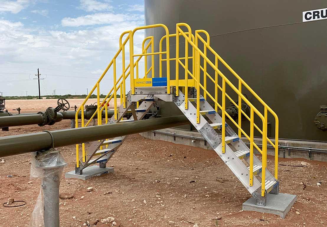 8-Step Metal Stair Pipe Crossover