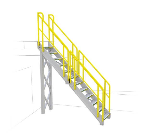 General Straight Metal Stair
