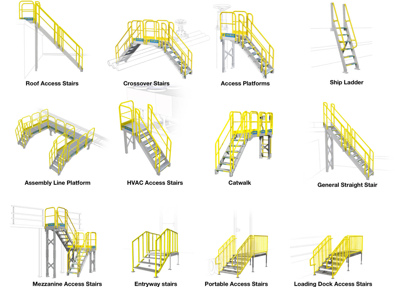 ErectaStep Metal Stair Configurations