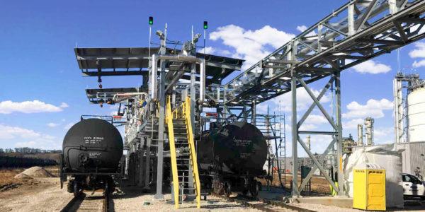 IFCo Nitrogen Fertilizer railcar bulk loading project