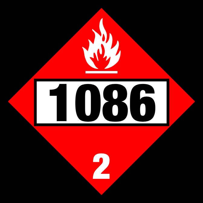Vinyl Chloride UN1086 Placard