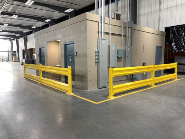 GuardRails protecting an in-plant building
