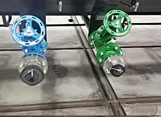 bottom loading valves on tank car for Butadiene