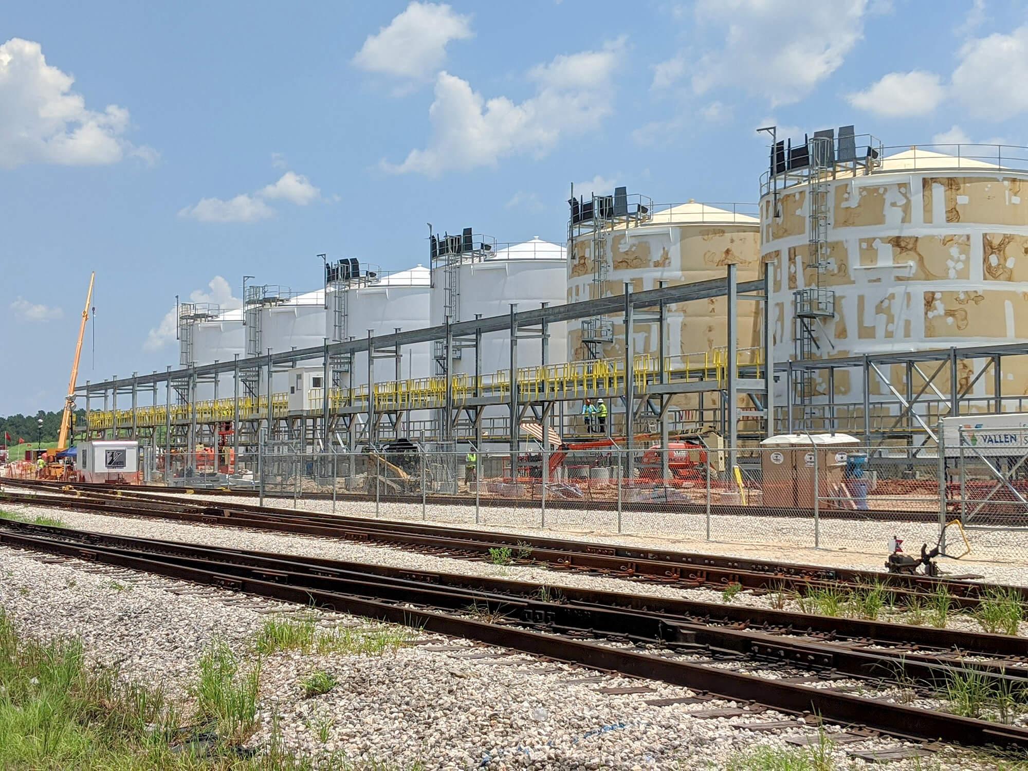 HCL Railcar Loading Rack SCS