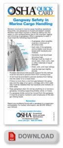 Gangway Safety in Marine Cargo Handling