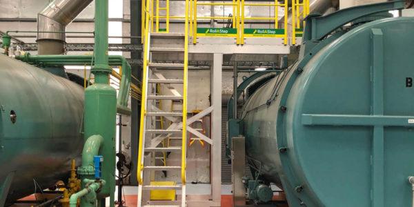 Boiler Access Ladder RollaStep C-Series Custom Rolling Platform
