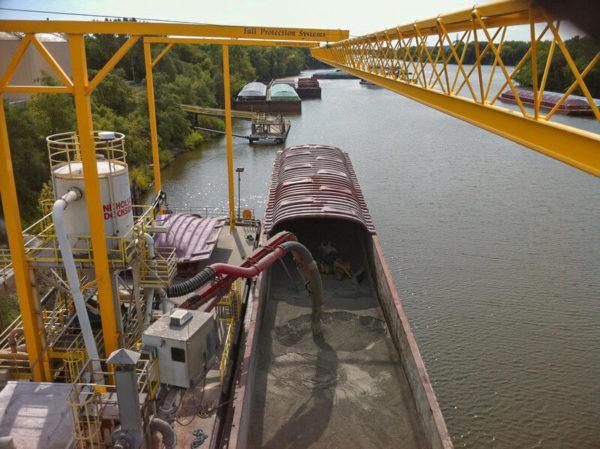 Lifeline Fall Protection Barge bulk Loading