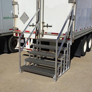 Standard semi trailer steps