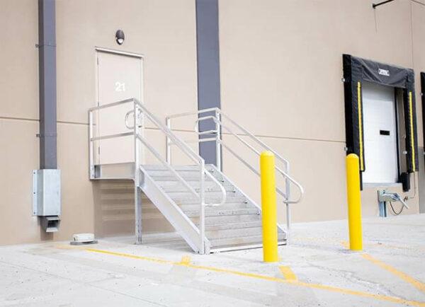 metal warehouse dock step