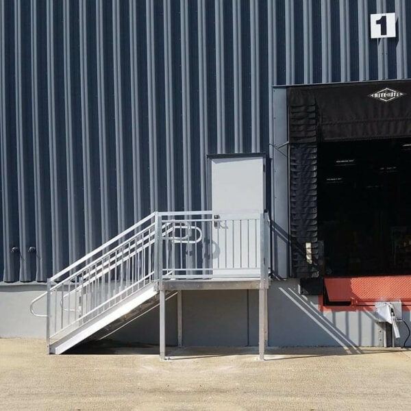 metal stairs for warehouse