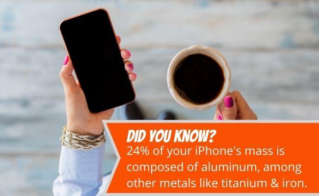 aluminum in your iphone
