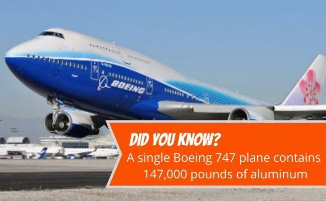 Boeing 747 plane aluminum